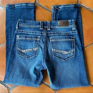 BKE Buckle Thick Stitch Distressed Dakota Jeans